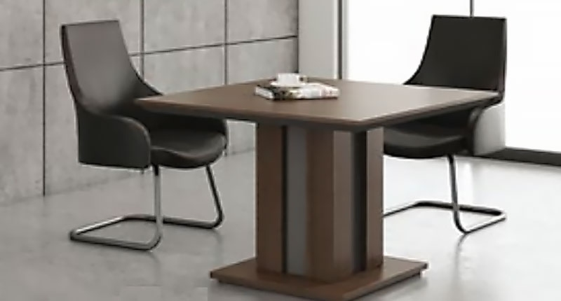 Стол переговоров на 4 персоны из ЛДСП класса Е1, меламиновое покрытие, цвет COFFEE OAK. Производство Китай. Размер 1000W*1000D*750H