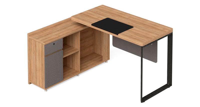 Офисный стол из ЛДСП меламиновая доска. Размер 1600W*1600D*768H