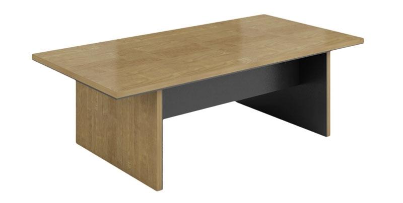 Конференц стол из ЛДСП, меламиновая доска, цвета светлый орех. Размер: 2400W*1200D*760H