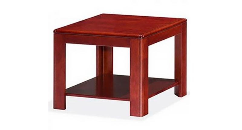 Журнальный столик из МДФ и натурального шпона. Цвет: темный орех. Размер: 600W*600D*480H