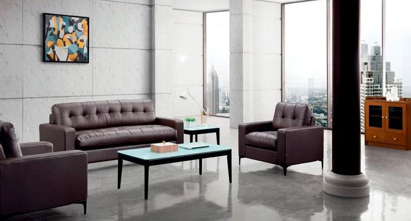 Комплект мягкой мебели JF007 (кофейного цвета), диван и два кресла, обивка PU/эко-кожа. Размеры: кресло 860W*830D*820 мм, диван 1860W*830D*820 мм.