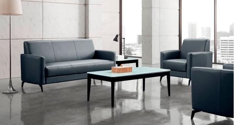 Комплект мягкой мебели JF009 (черного цвета), диван и два кресла. Обивка PU/эко-кожа. Размеры: кресло 860W*800D*840 мм, диван 1860W*800D*840 мм.
