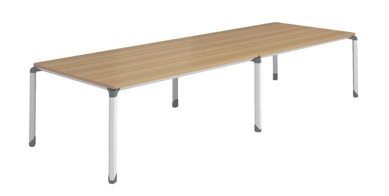 Конференц стол из ЛДСП, меламиновая доска, цвета светлый орех. Размер: 3600W*1240D*750H