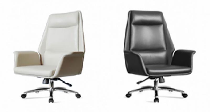 Высококачественное офисное кресло с прочной алюминиевой пятизвездочной базой на роликах. Спинка кресла имеет функцию наклона с фиксацией спинки. Обивка эко кожа, белого или черного цвета. Размер: 740W*610D*1305H