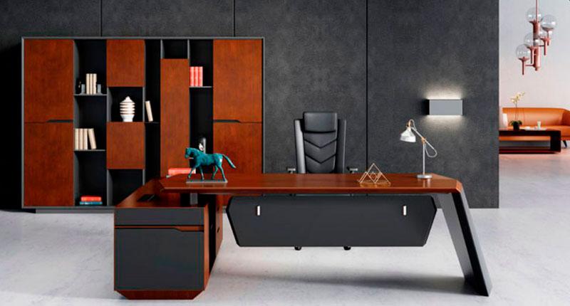 Офисный стол в современном дизайне, МДФ класса Е1. Размер стола: 2650w*2000D*765H