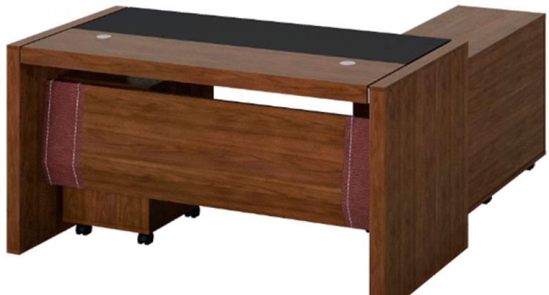 Стол Open Varnish, из МДФ, класса Е1, с натуральным шпоном ореха 0,6 мм, 8 слоев открытого лака холм, цвет - орех. Размер: 1600W*800D*760H