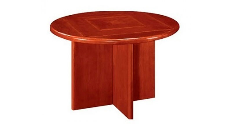 Конференц стол из МДФ, облицовка шпон. Размер: 1150W*1150D*760H