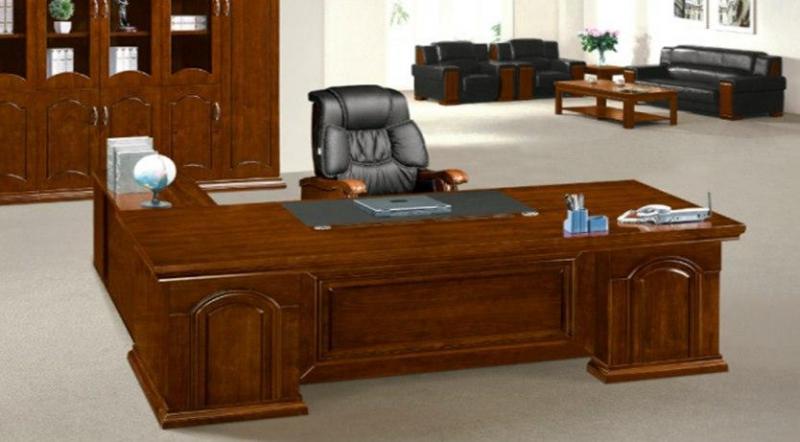 Стол руководителя из МДФ шпона ореха, размер: 2400W*1100D*760H